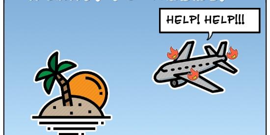 搞笑漫画:在孤岛上吃自己的手