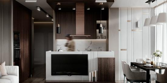 香港中环的低奢一居室,装修后的现代感很强