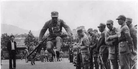 在抗日战争时期国内的战争场景