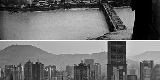 一组中国城市新旧照片对比,展示出中国百年来发生的巨大变化
