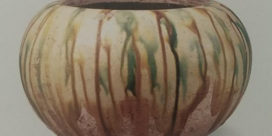 历史文物出土瓷器白釉长劲瓶