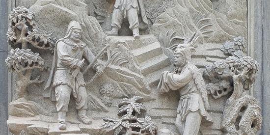 北京八大处石雕二十四孝栩栩如生