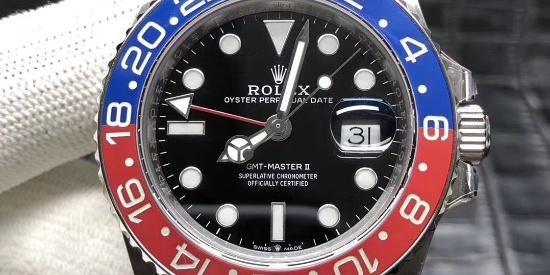 GM劳力士格林尼治黑蓝可乐圈——904L蚝式钢腕表