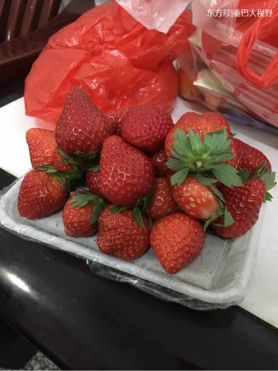在纸盘子上画水果_水果商用一摞纸垫盘子增重量 男子买草莓回家后网上吐槽