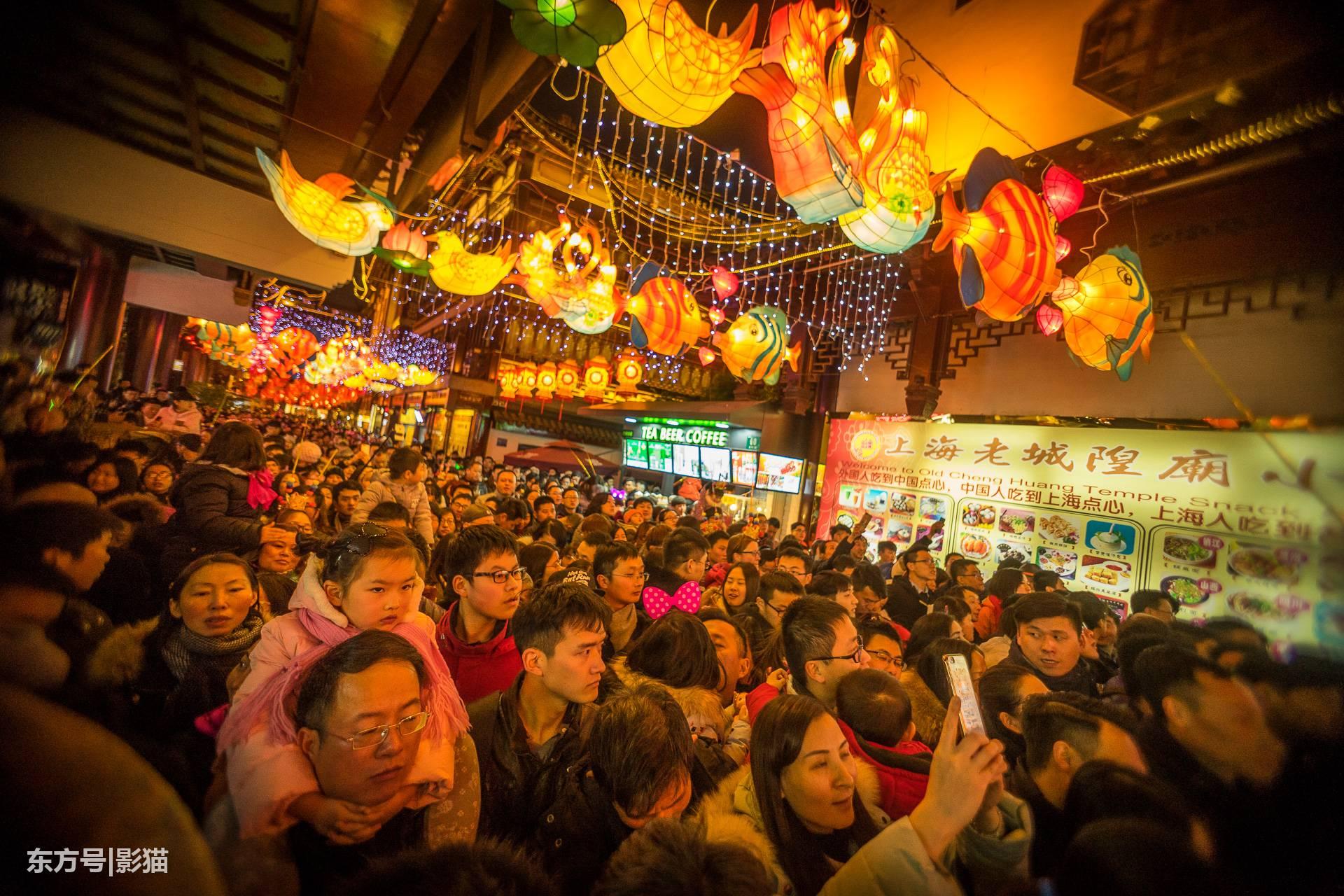 上海豫园2017元宵节,灯海人海