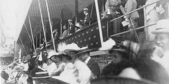 1912年奥运会游泳运动员们的身姿组图:一站一立,都是风景!