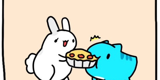 恶搞漫画:一个美味的披萨饼