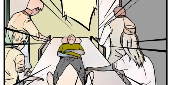 恶搞漫画:漂亮的外科手术缝合